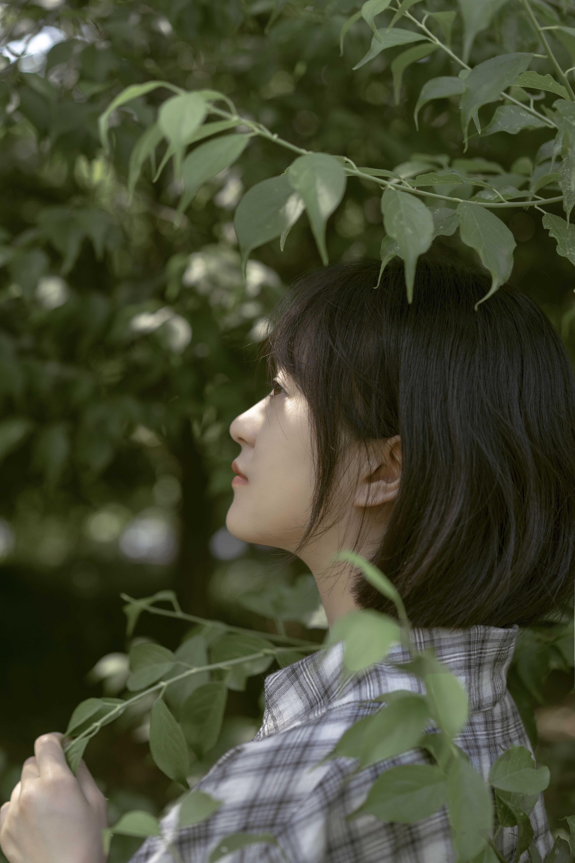 人像摄影作品 :植物园